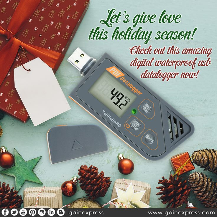 Give your loved ones the #convenience they need with this #MultiFunction #USB #Datalogger that #measure and #save the #records of #temperature , #humidity and #pressure throughout the #measurement period. Grab it here: http://amzn.to/2nqakXd  #Gainexpress #GiftIdea