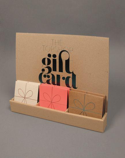 Topshop Gift card #design | Lush #Typography
