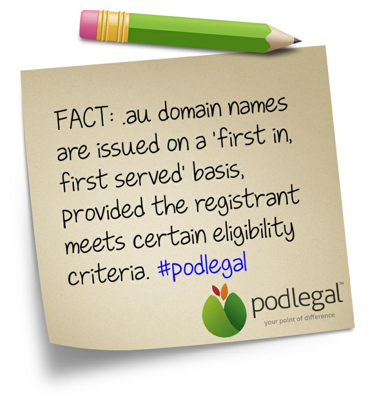 STICKY NOTE: Domain Names - first in is first served, so long as you meet the conditions. #websites #domains #IP #tech #podlegal