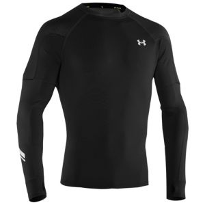Men's Under Armour Cold Gear Fitted Thermo Run Crew  is great for working out during the winter!  //  ¡El suéter de cuello redondo para hombres Gear Fitted Thermo Run es fabuloso para hacer ejercicios durante el invierno!