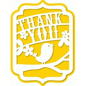 Silhouette Design Store: a2 thank you bird banner