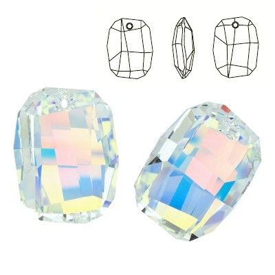 6685 Graphic 28mm Crystal AB  Dimensions: 28,0 mm Colour: Crystal AB 1 package = 1 piece