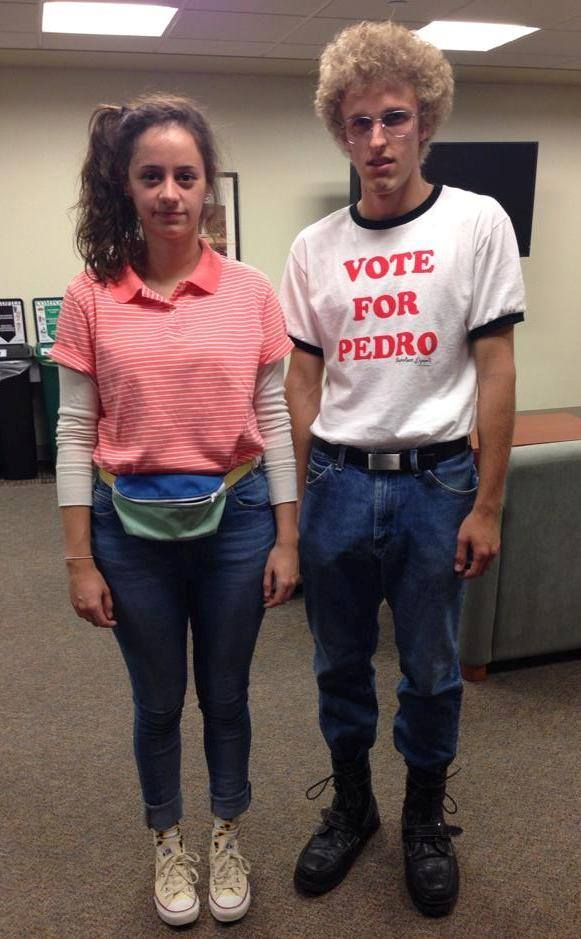 Napolean Dynamite and Deb...awesome costume idea!