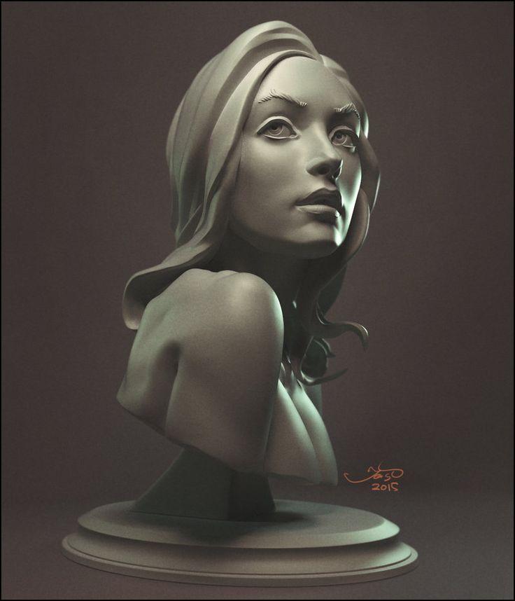 skech girl, zbrush+vray - Sergey Katcykov