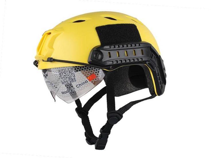 2016 Fast Tactical Protective Helmet Lightweight Emersongear Helmet Goggle Bj Type Helmet Yellow Suitable For Outdoor War Game Activities From Emerson_gear, $19.02 | Dhgate.Com