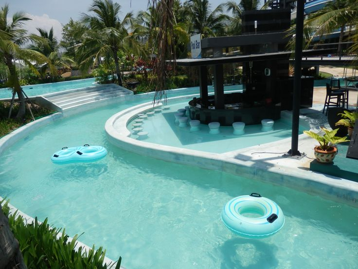 Lazy River & Pool Bar at Black Mountain Water Park in Hua Hin, Thailand