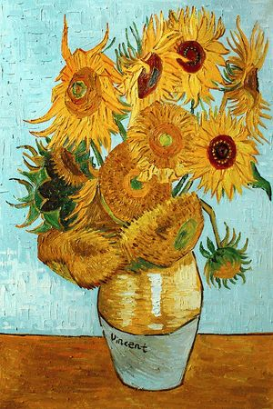 Van Gogh - Sunflowers  A sunflower in the style of my favorite artist sounds like a good tattoo!