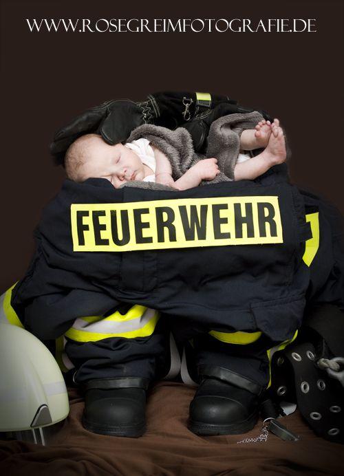 Babyshooting Feuerwehr