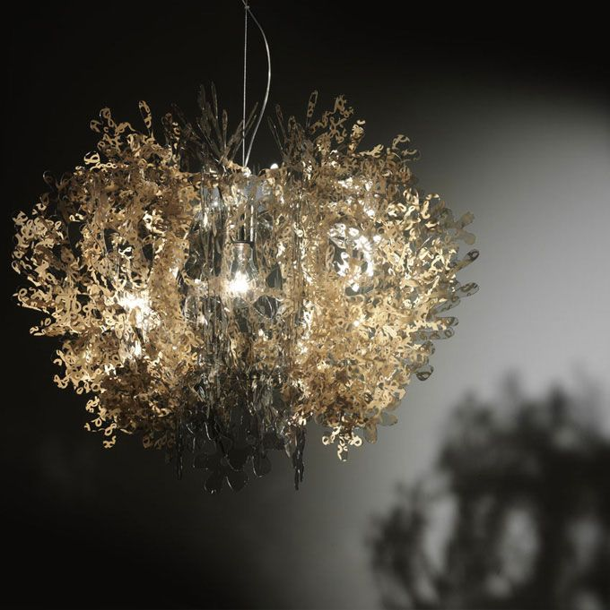 Okay, now you really are amazing: Lamps Webmobili, Lights Lamps, Lampada Fiorella, Gold Pendants, Fiorella Da, Pendants Lights, Golden Lights, Da Slamp, Fiorella Capture