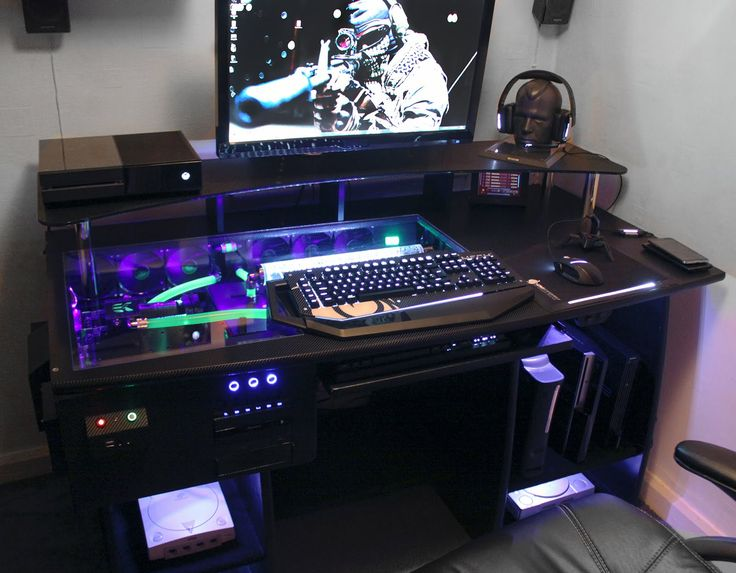 inspiring custom gaming computer desks for home image idea