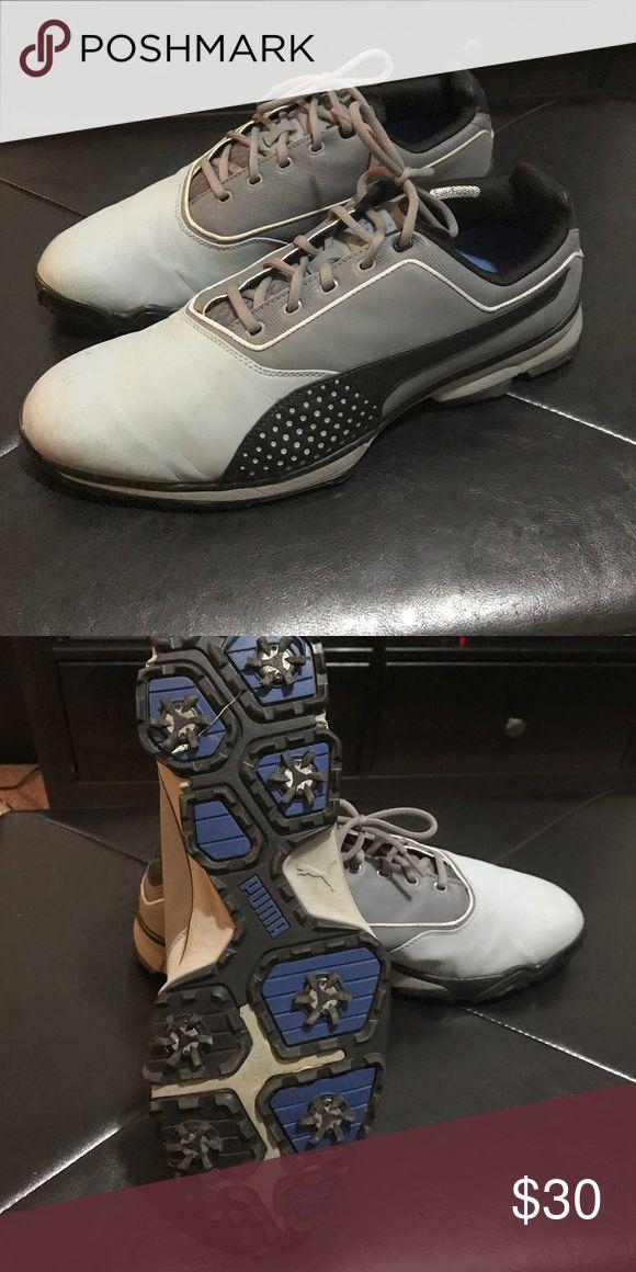 Men's PUMA golf shoes 13 Men's PUMA golf spike shoes.  Like New.  Size 13 Puma Shoes Athletic Shoes