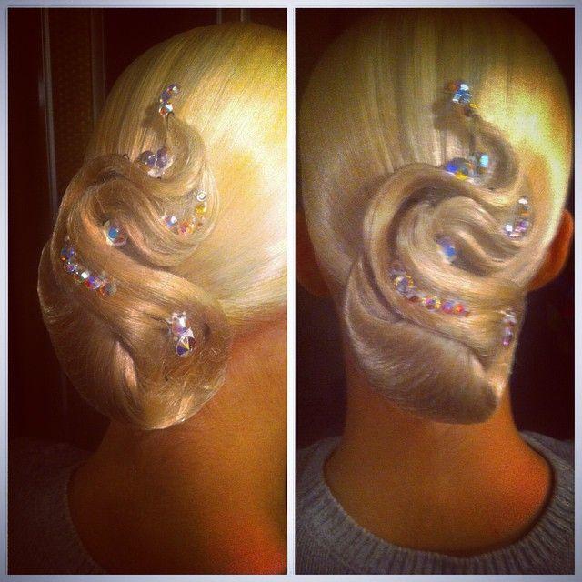First work in 2015 #hair #makeup #dance #ballroom #standart #latin #like #nice #hairstyle #comp #competition #танцы #стандарт #прическа #макияж #латина #конкурс #турнир #бальныетанцы