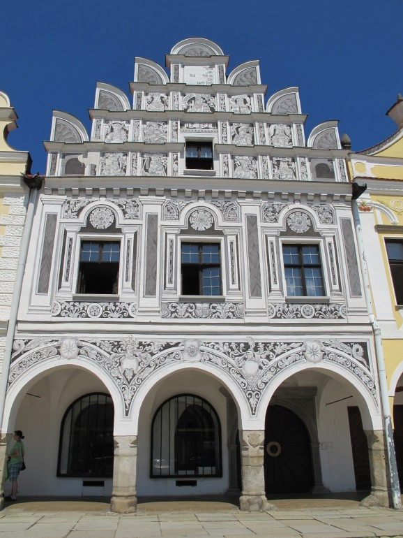 My favorite of the 16th century houses that line the main town square in Telč, Czech republic