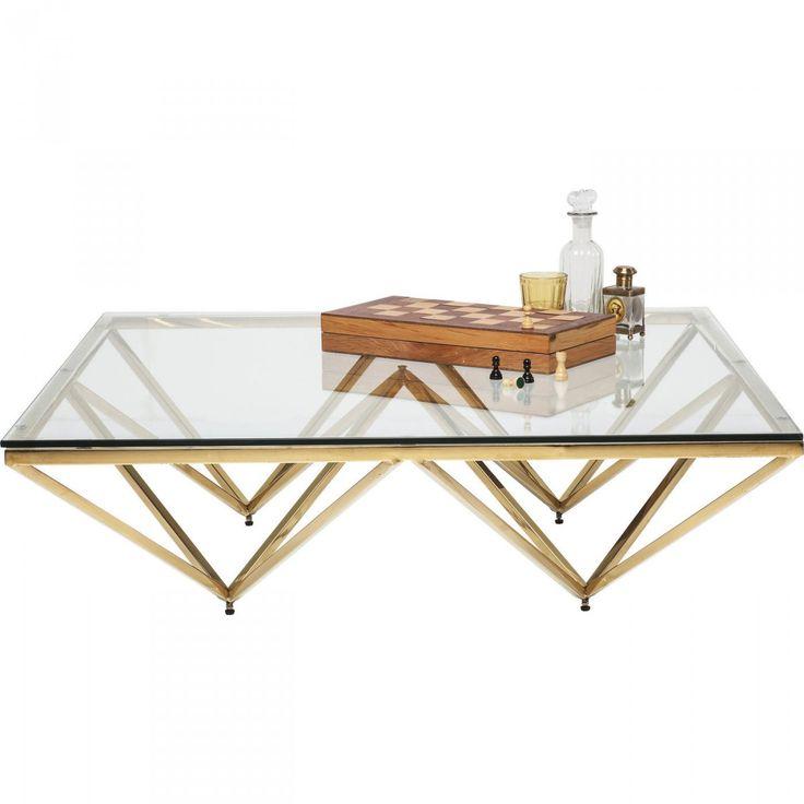 KARE Design - Tische -Couchtisch Network Gold 105x105cm - ausergewohnliche relax liege hochster qualitat