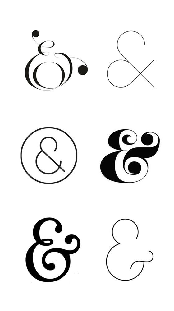 One symbol, one ampersand, different designs, different experiences / #typography #style