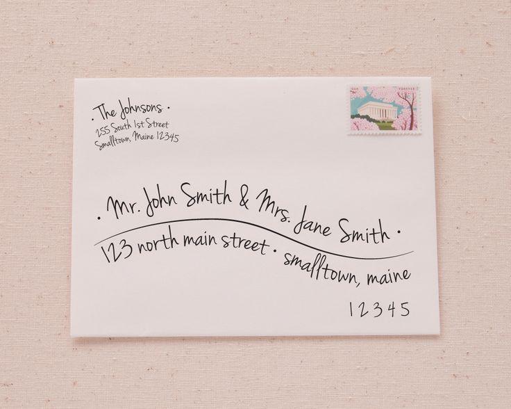 Addressing Envelopes for an Event
