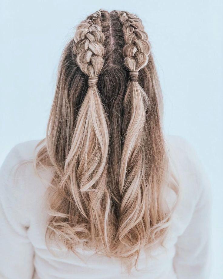 Cabelo Meio Preso Com Trancas Hair Styles Medium Length Hair Styles Diy Hairstyles Easy