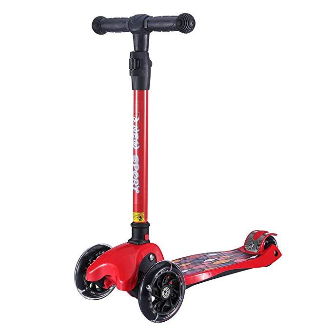 a7531935a8a Kick Scooter for Kids, 3 Big Wheels Scooter for Children 4 Adjustable  Height One Second Folding Mini Skateboard Scooters with Handle Bars Great  Gifts for ...