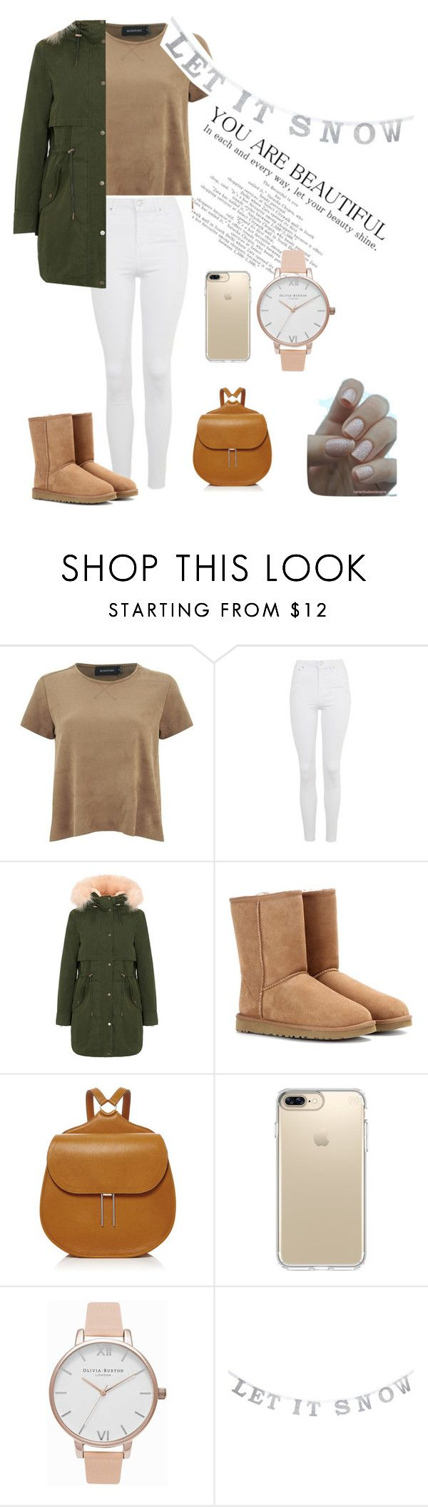 """""""Untitled #52"""" by ajlahamzi ❤ liked on Polyvore featuring MINKPINK, Topshop, Parka London, UGG, Hayward, Speck and Olivia Burton"""