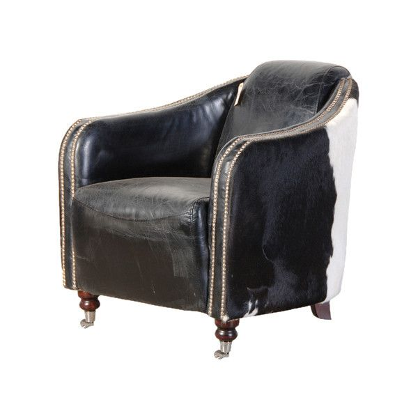 gaucho black white cow hide armchair brl liked on polyvore featuring home furniture. Black Bedroom Furniture Sets. Home Design Ideas