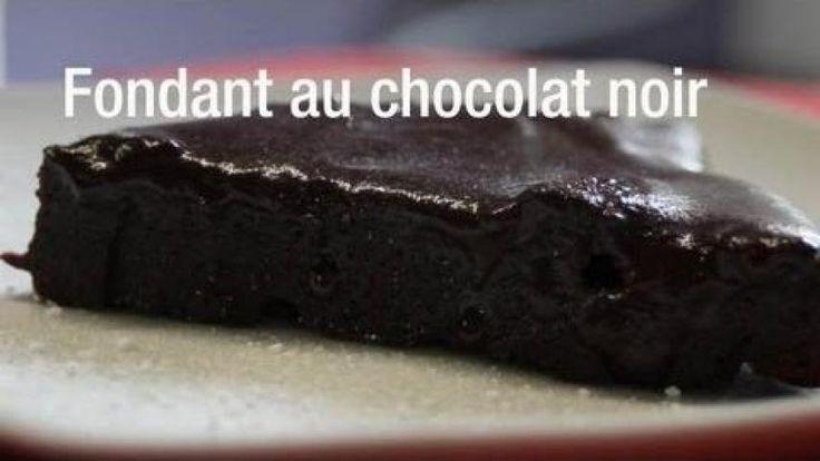 Fondant au chocolat noir et fromage blanc 0% sans matières grasses
