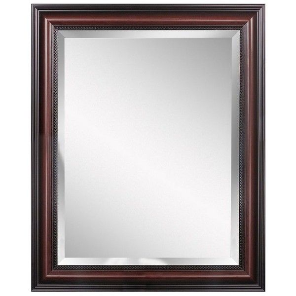 Head West Traditional Wall Mirror (18645 RSD) ❤ liked on Polyvore featuring home, home decor, mirrors, brown, brown wall mirror, brown mirror, colored wall mirrors, horizontal mirror and traditional home decor