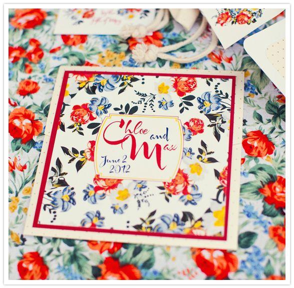 floral wedding invitations: Wedding Inspiration, Floral Prints, Blue Red Wedding, Floral Motif, Romantic Floral, Floral Backgrounds, Floral Wedding Invitations, Red Blue, Wedding Invitations Red