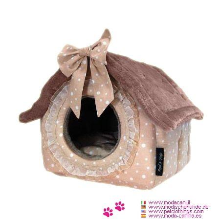 Deluxe Häuschen für kleine Hunde Chocolat - Häuschen für kleine Hunde Geeignet für Hunde die nicht gerne einen kissen, sondern lieber eine gemütliche Hundehöhle, wo sie sich geschützt fühlen