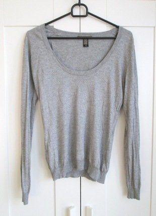 Kup mój przedmiot na #vintedpl http://www.vinted.pl/damska-odziez/swetry-z-dekoltem/15300220-szary-sweter-z-dekoltem-mango-m-38