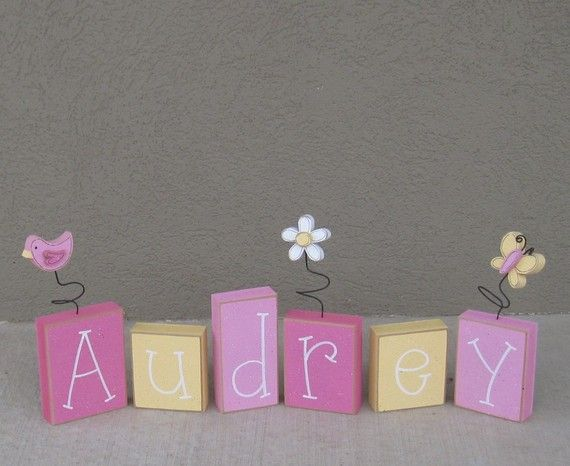 Cute name blocks