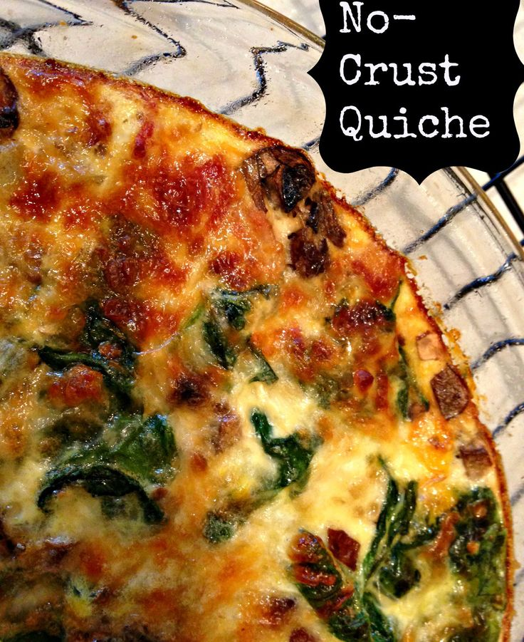 No-Crust Quiche – The Chocolate Bottle