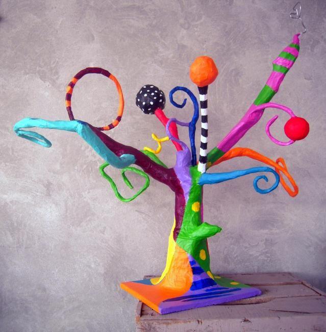 Arbre à surprises - Mixed Media ©2011 par Atelier Terre de Sienne -  Média mixtes