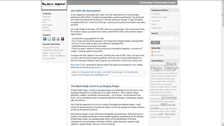 Black Magic Design - Blog Design