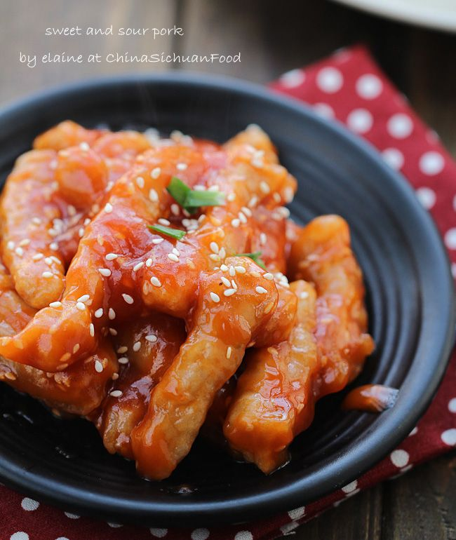 Sweet and Sour Pork tenderloin. This is the traditional Chinese version without pineapple.