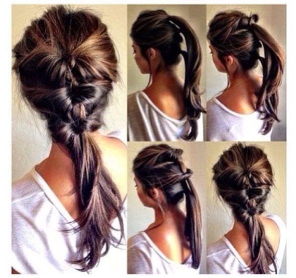 penteados fáceis de fazer sozinha trança diferente