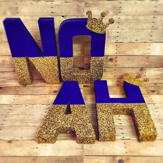 RESERVED Prince letters royal crown royal glitter letter gold