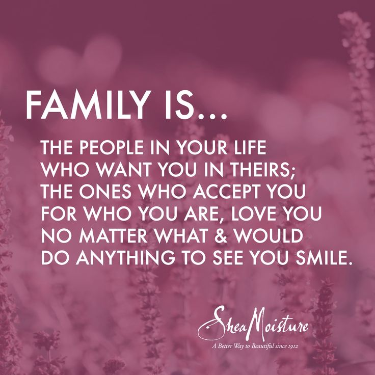 This Is Important To Me Because It Is Your Family You