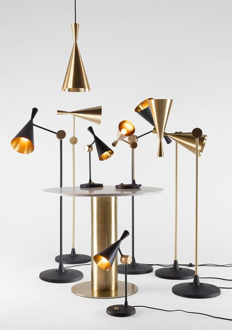 Designer Tom Dixon will present a range of furniture and metallic lighting that references British members' clubs in Milan next month.