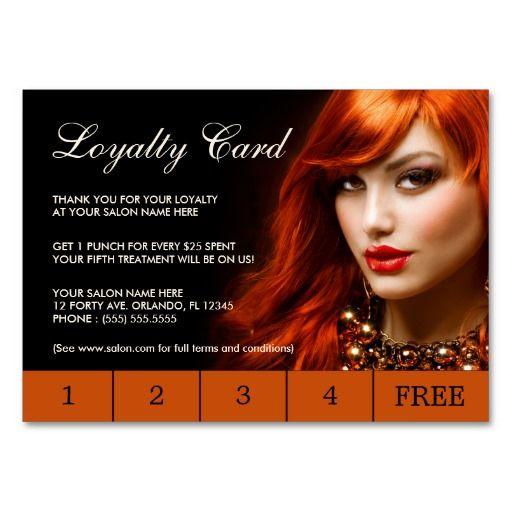 Hair Salon Loyalty Punch Cards Template Loyalty Hair