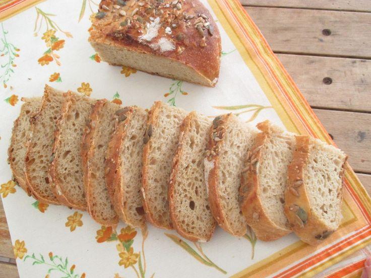 Pane di grano duro con lievito madre e Senatore Cappelli integrale, con autolisi e gelatinizzazione