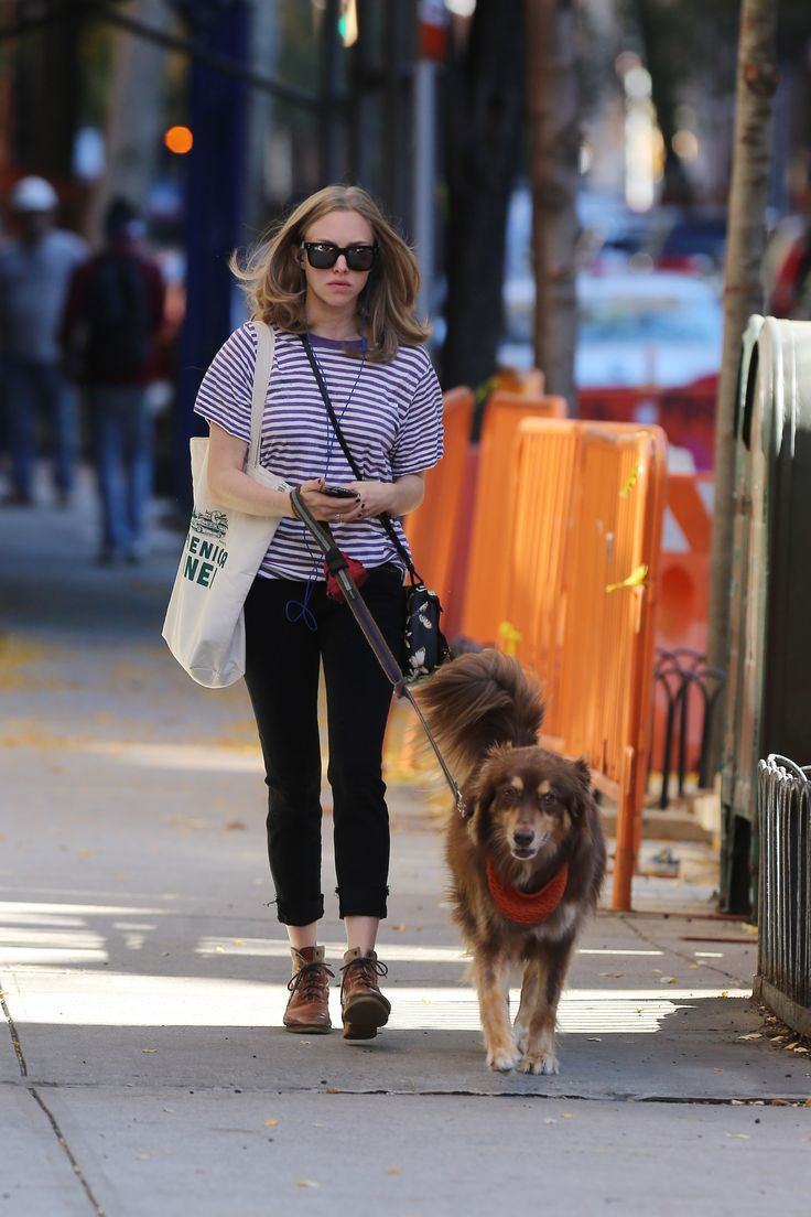 Amanda Seyfried out with Finn in NYC 11/4/15