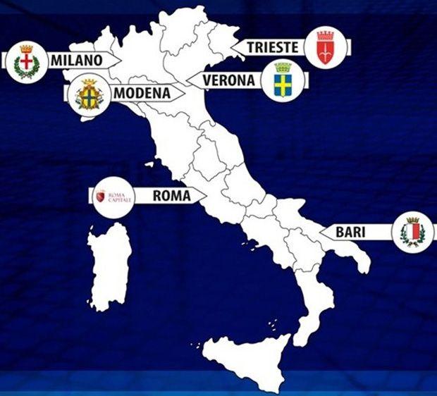 Le città italiane. In Italia i mondiali 2014 di Volley femminile