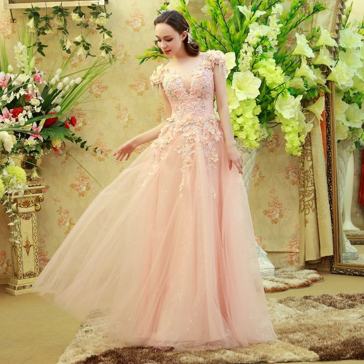 Find More Evening Dresses Information about abendkleider  Pink Luxuries robe de soiree vestidos de fiesta Appliques Beads Tulle robe de soiree courte Party Evening Dress,High Quality dress with beads,China bead drops Suppliers, Cheap dress miller from wellbridal dresses 738196 on Aliexpress.com