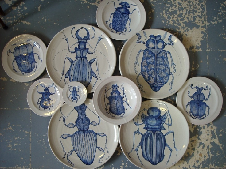bugs on plates.
