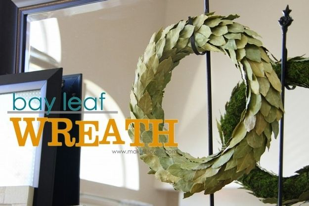 A Bay Leaf Wreath | 40 DIY Home Decor Ideas That Aren't Just For Christmas