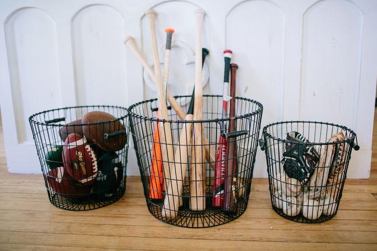 Good Storage Idea Black Laundry Basket | The Magnolia Market