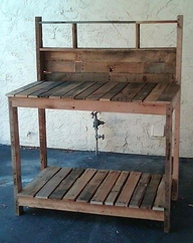 Beautiful Reclaimed Pallet Garden Table by WeatheredEclectic, $195.00