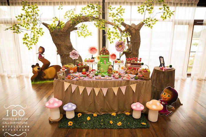 Masha & the Bear Birthday Party on Kara's Party Ideas | KarasPartyIdeas.com (14)