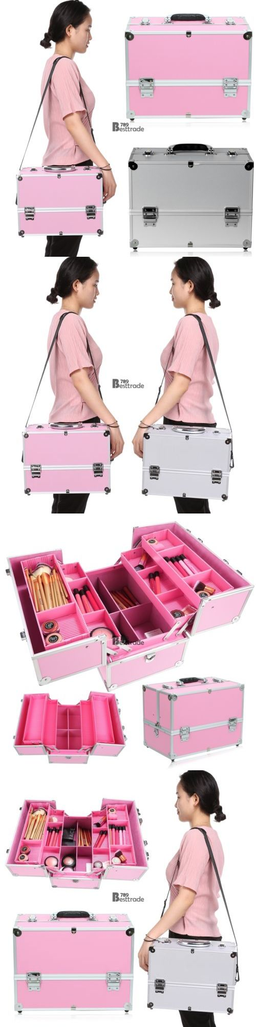 Makeup Bags and Cases: Homdox Makeup Storage Box Train Make Up Cosmetic Organizer Beauty Case 3 Floors -> BUY IT NOW ONLY: $30.45 on eBay!
