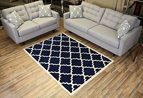 Modela Collection Trellis Modern Area Rug Rugs Navy Blue 49x610 -- You can get more details by clicking on the image. (This is an Amazon Affiliate link)